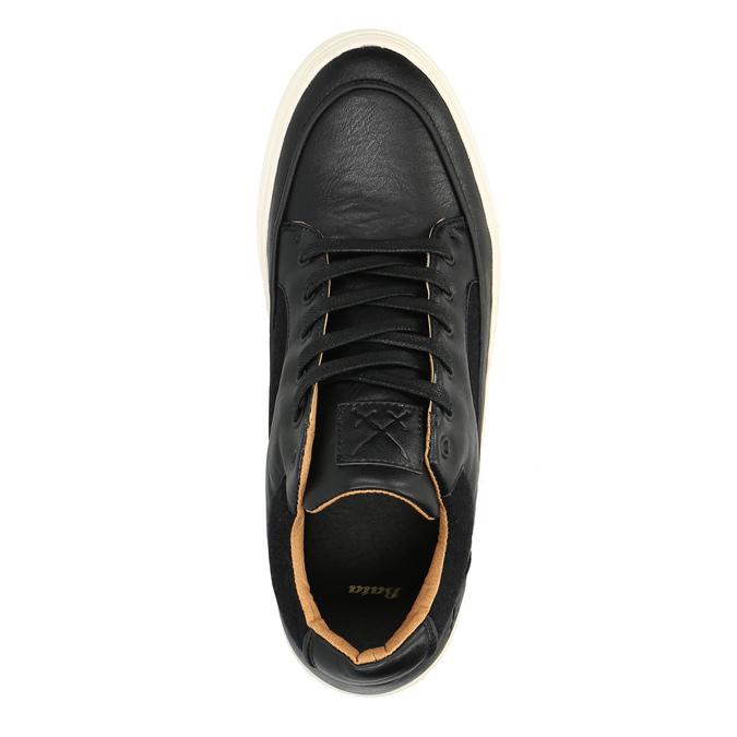Pánske tenisky na širokej podrážke bata, čierna, 841-6605 - 19