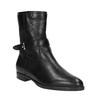 Dámska členková obuv s prešívaním bata, čierna, 594-6616 - 13
