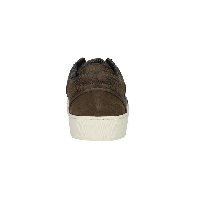 Pánske tenisky na širokej podrážke bata, hnedá, 841-4606 - 17
