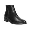 Kožená členková obuv so zipsom čierna bata, čierna, 594-6518 - 13