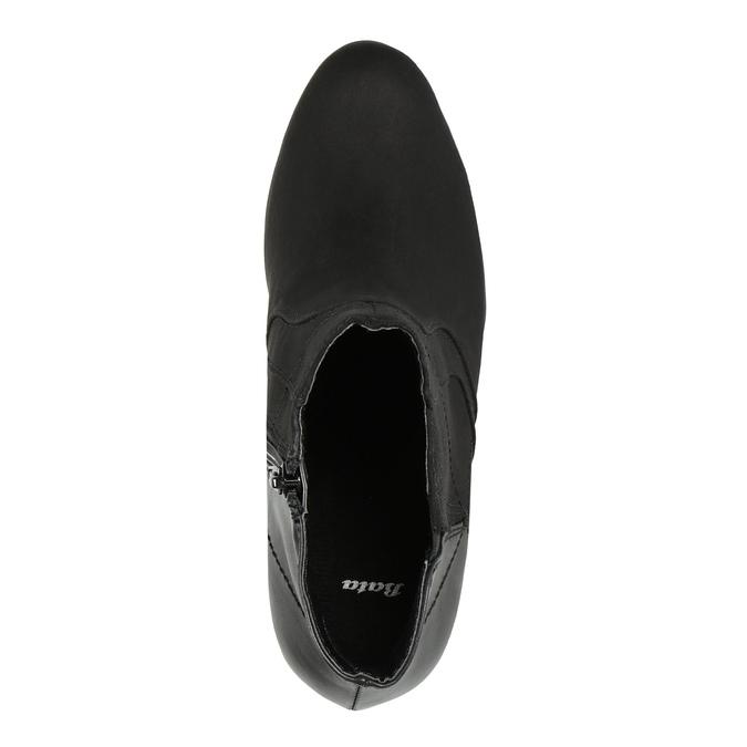 Členková obuv na podpätku bata, čierna, 791-6602 - 19