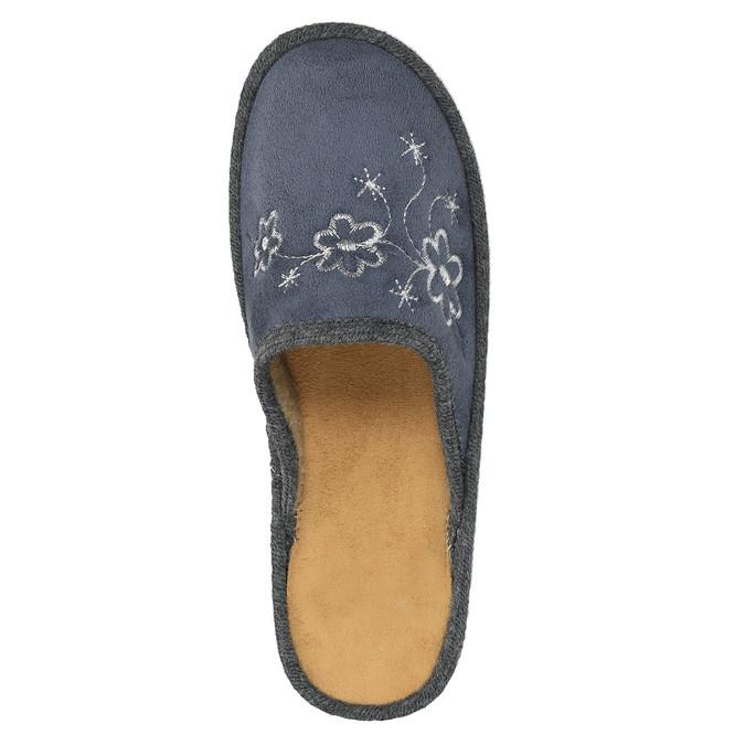 Domáce papuče s výšivkou bata, šedá, 579-2280 - 19
