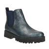 Dámska členková obuv bata, modrá, 591-9616 - 13