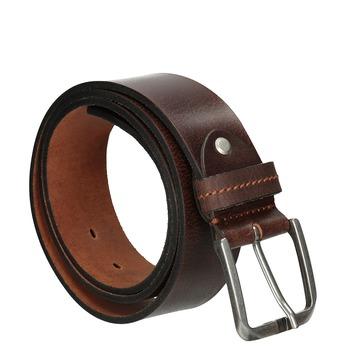Hnedý kožený opasok bata, hnedá, 954-3106 - 13