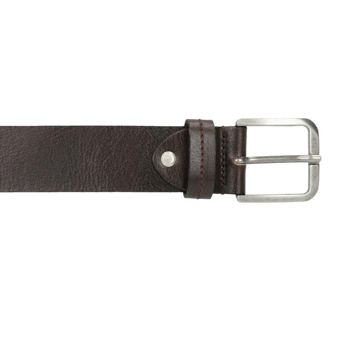 Pánský kožený opasok bata, hnedá, 954-4106 - 26