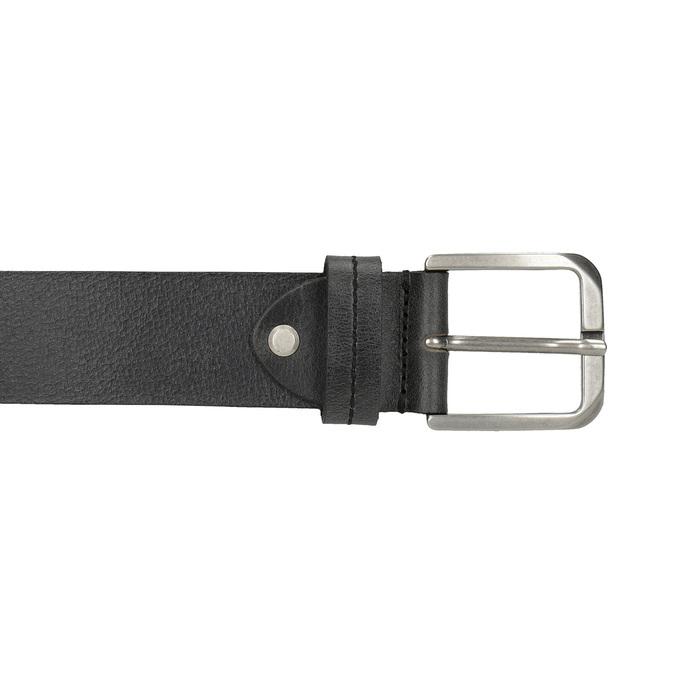 Čierny kožený opasok bata, čierna, 954-6106 - 26