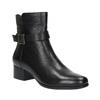 Kožené členkové čižmy na nízkom podpätku bata, čierna, 694-6630 - 13