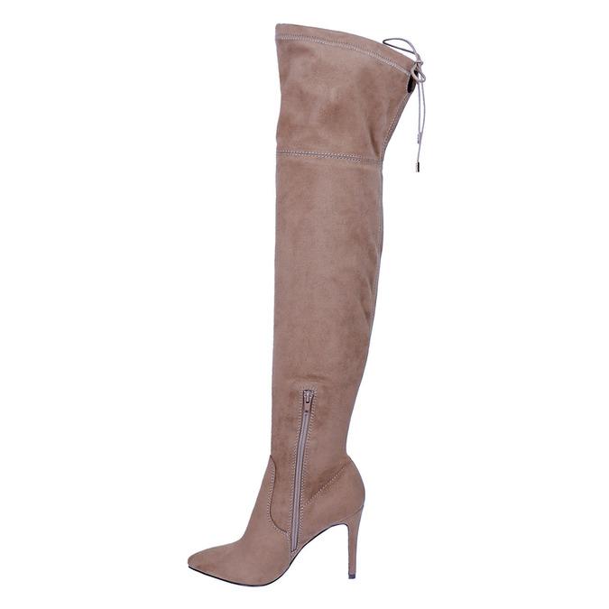 Dámske čižmy nad kolena bata, hnedá, 799-3600 - 19