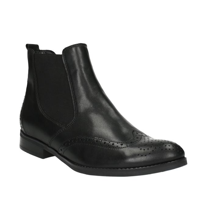 Dámska Chelsea obuv so zdobením gabor, čierna, 614-6110 - 13