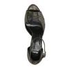 Sandále na ihličkovom podpätku so zlatými odleskami bata, čierna, 729-8630 - 19