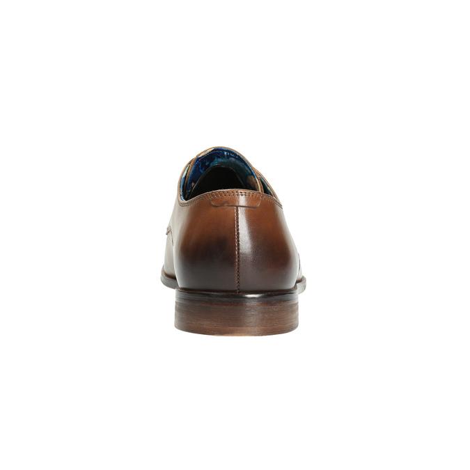 Pánske kožené poltopánky bata, hnedá, 826-3643 - 17