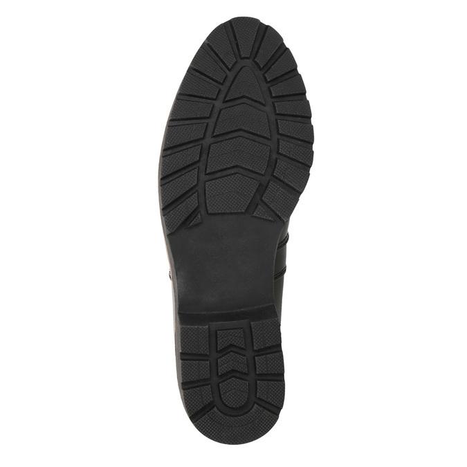 Lakované Chelsoa Boots na výraznej podošve bata, čierna, 591-6603 - 19