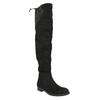 Dámske čižmy nad kolená bata, čierna, 599-6608 - 13