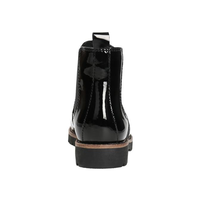 Lakované Chelsoa Boots na výraznej podošve bata, čierna, 591-6603 - 17