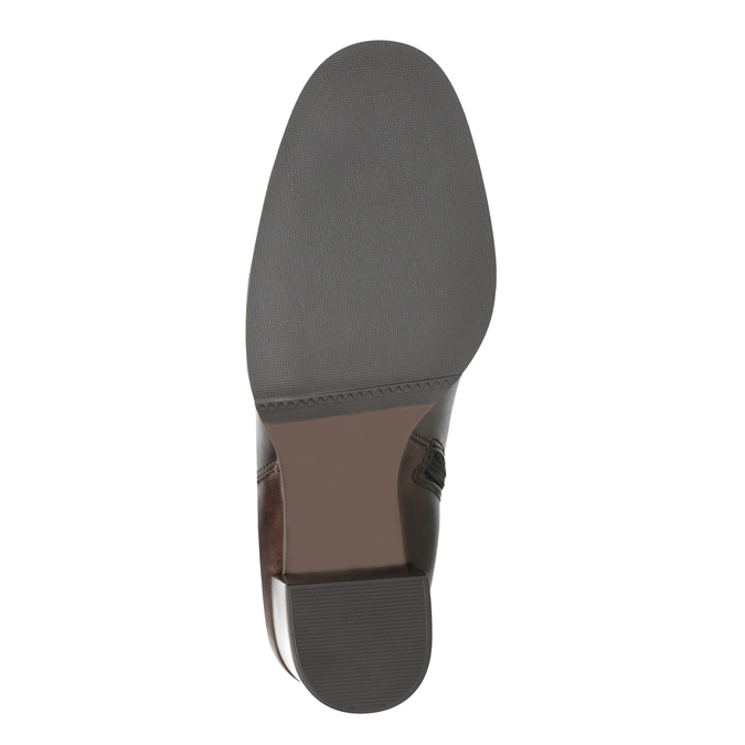 Kožená členková obuv na podpätku bata, hnedá, 794-4635 - 26