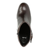Kožená členková obuv na podpätku bata, hnedá, 794-4635 - 19