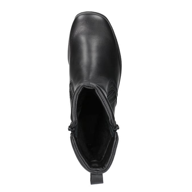 Kožená členková obuv so zipsom bata, čierna, 594-6634 - 19