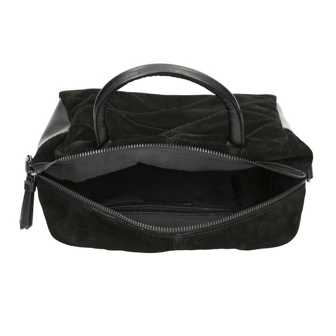 Malá kožená kabelka s popruhom bata, čierna, 963-6133 - 15
