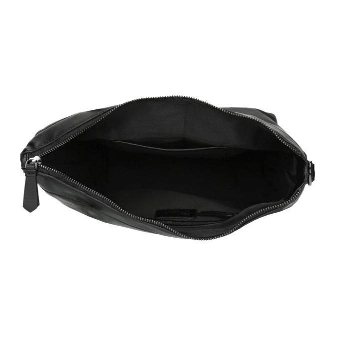 Kožená kabelka s odnímatelným popruhom bata, čierna, 964-6234 - 15