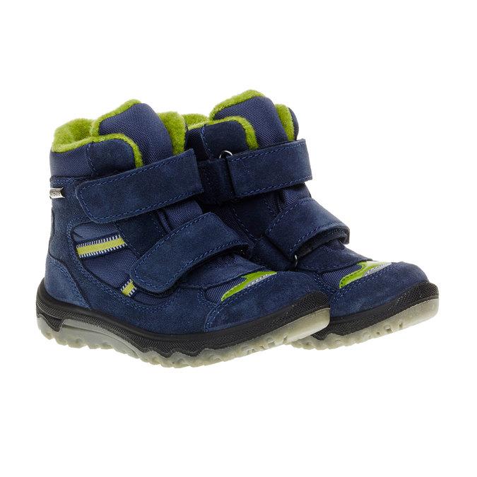 Kožené detské topánky mini-b, modrá, 293-9150 - 26