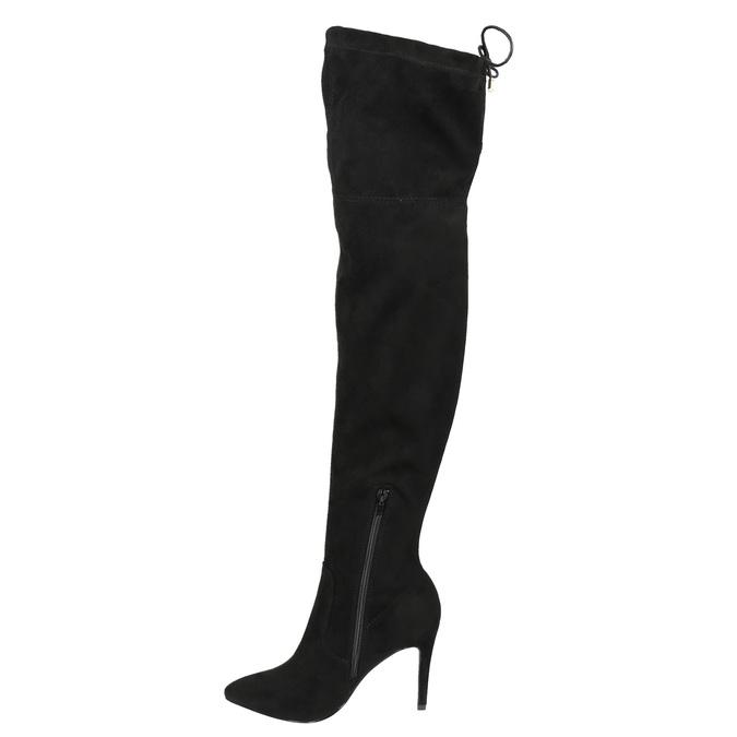 Dámske čižmy nad kolena bata, čierna, 799-6600 - 17
