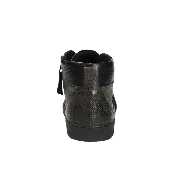 Pánska členková obuv kožená bata, šedá, 846-2602 - 17