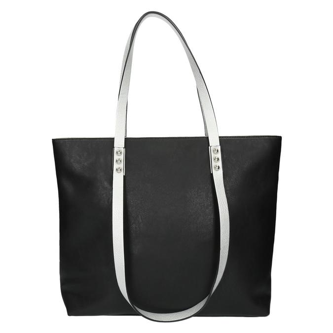 Dámska kabelka s dvojitými rúčkami bata, čierna, 961-6625 - 19