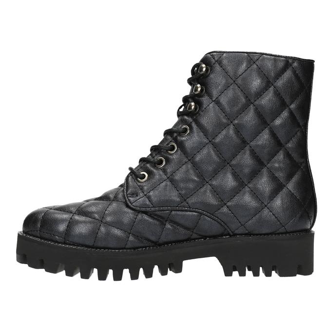 Dámska členková obuv bata, čierna, 591-6614 - 26