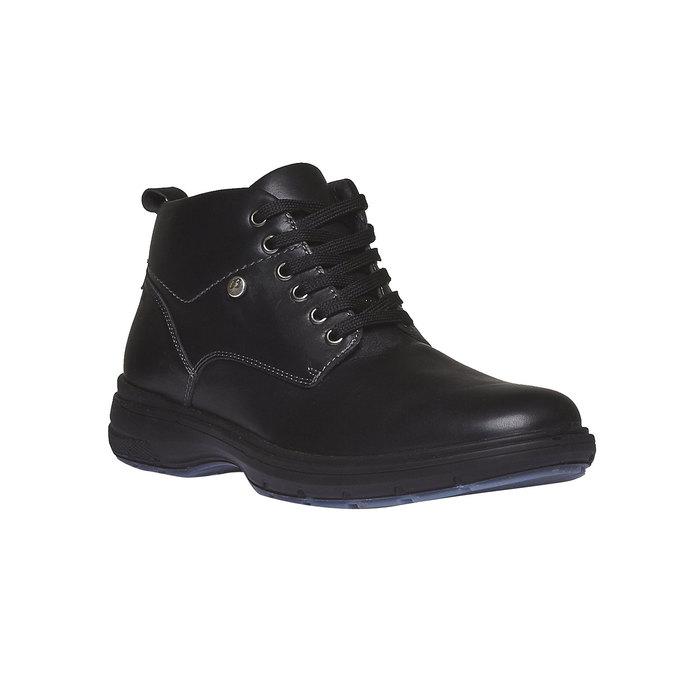 Kožené členkové topánky bata, čierna, 894-6226 - 13
