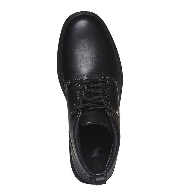 Kožené členkové topánky bata, čierna, 894-6226 - 19