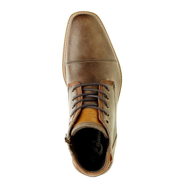 Kožená členková obuv pánska bata, šedá, 894-2620 - 19