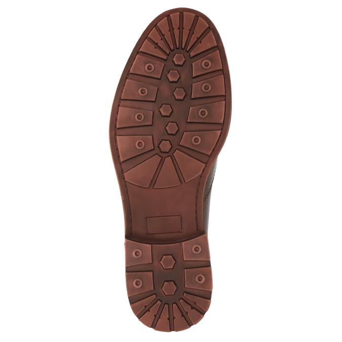 Kožené členkové poltopánky bata, hnedá, 894-4646 - 26
