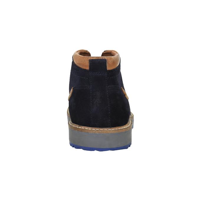 Pánska obuv v štýle Chukka Boots bata, modrá, 893-9652 - 17