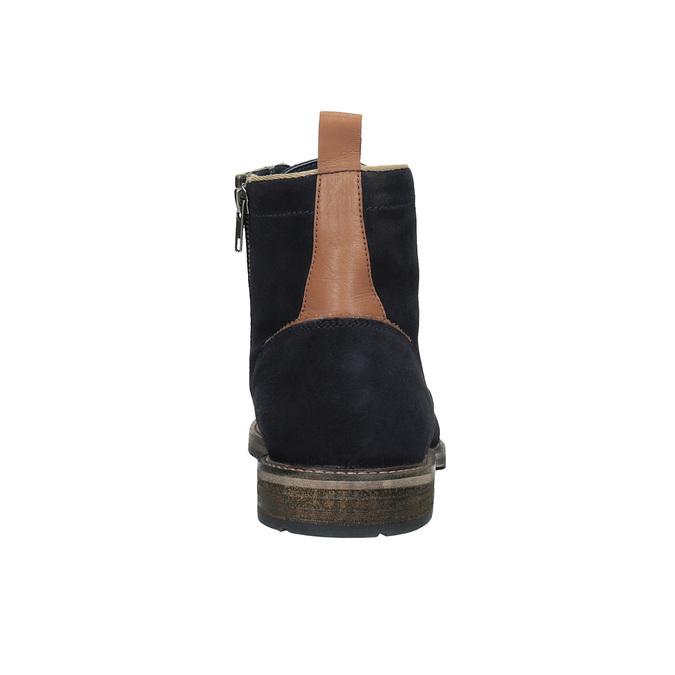 Členková kožená obuv bata, modrá, 893-9651 - 17