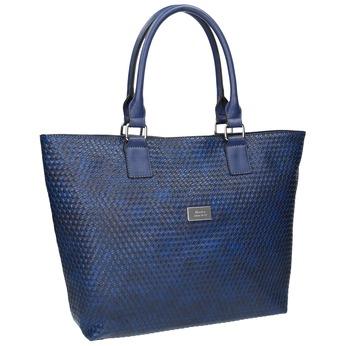 Modrá dámska kabelka bata, modrá, 961-9651 - 13