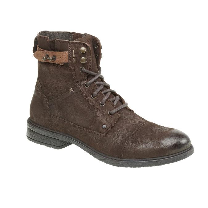 Kožené členkové topánky bata, hnedá, 894-4165 - 13