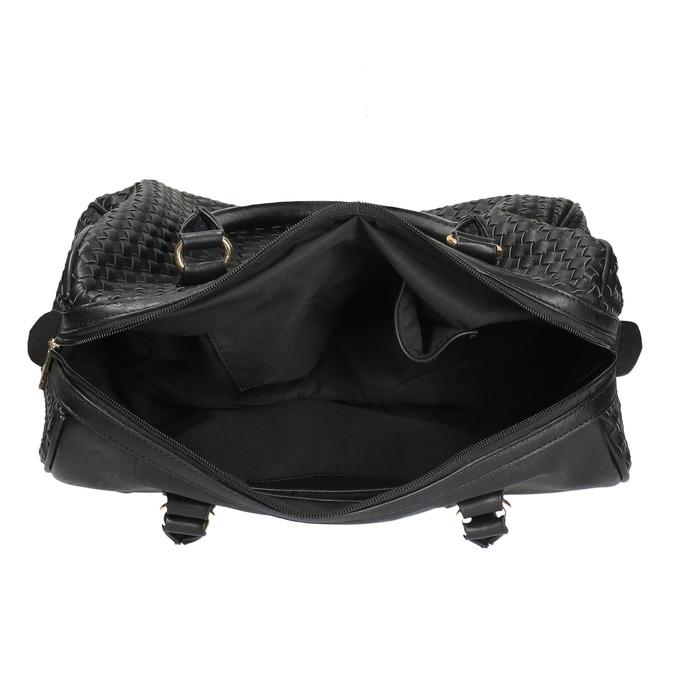 Bowling kabelka s prepletaným vzorom bata, čierna, 961-6629 - 15
