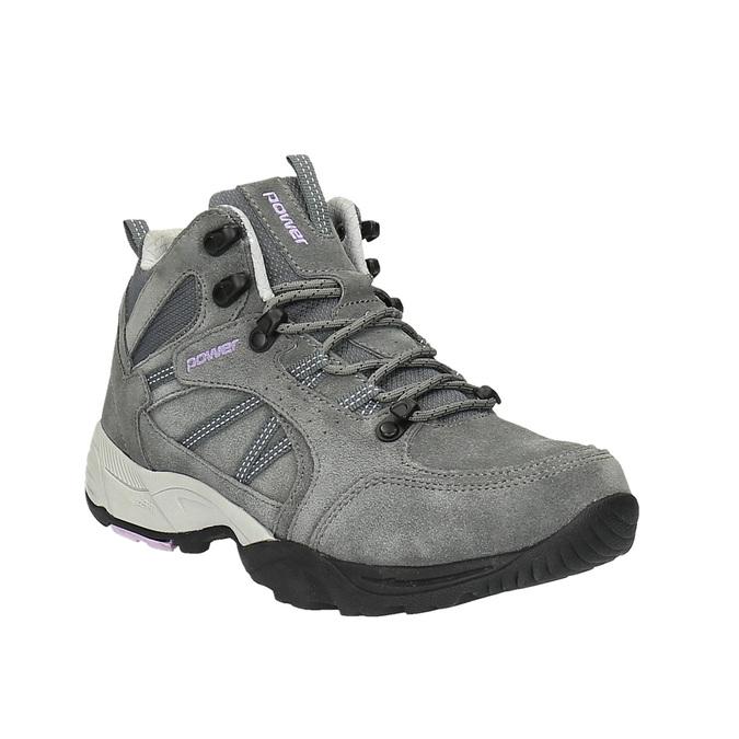 Kožená členková obuv v Outdoor štýle power, šedá, 503-2830 - 13