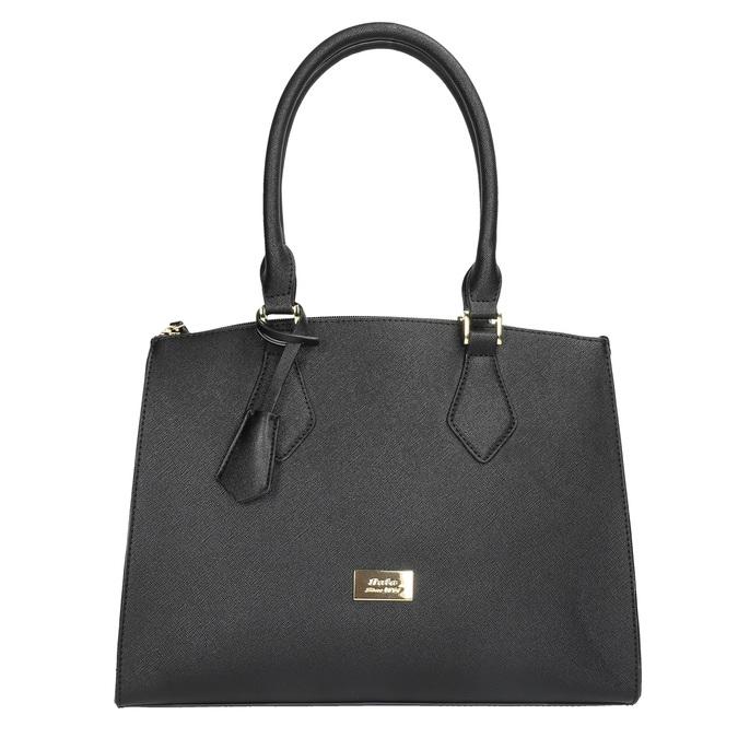 Čierna dámská kabelka s pevnými rúčkami bata, čierna, 961-6646 - 19