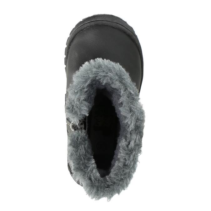 Detská členková obuv bubblegummer, čierna, 191-6612 - 19
