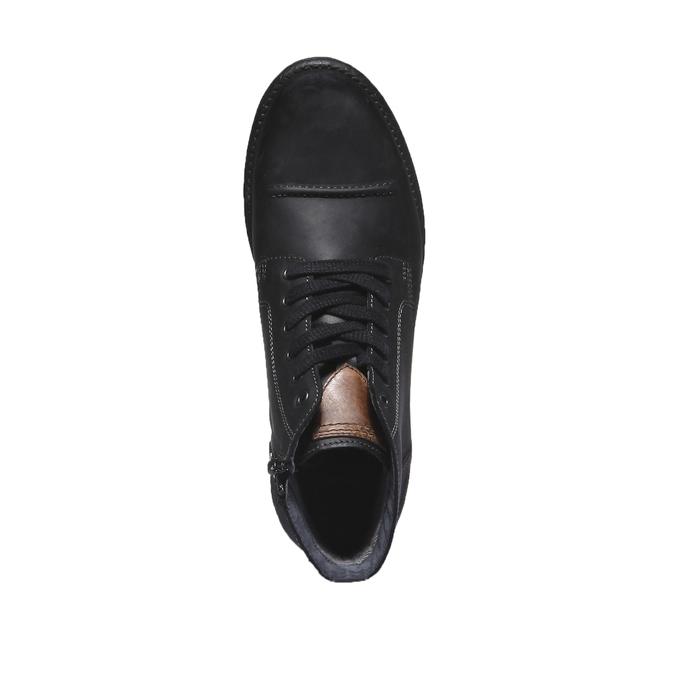 Ležérna kožená obuv bata, čierna, 894-6555 - 19