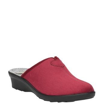 Dámska domáca obuv s plnou špicou bata, červená, 579-5602 - 13
