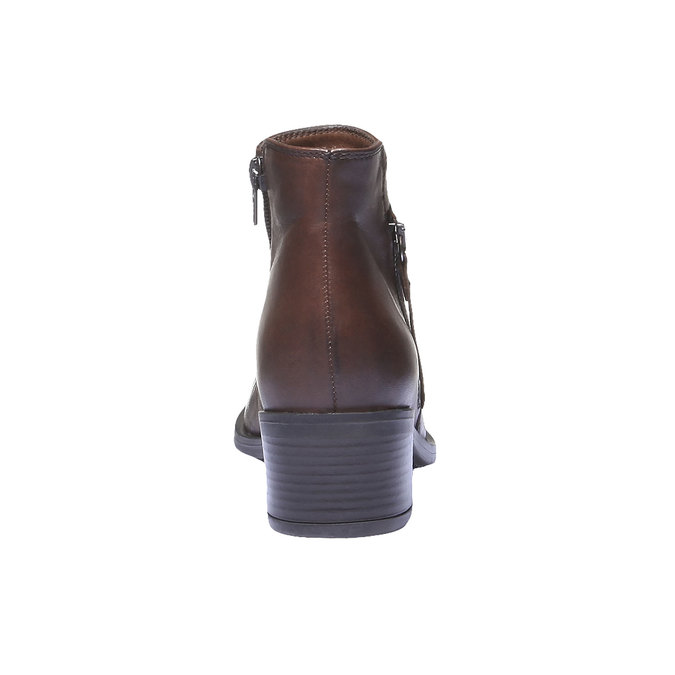 Kožená členková obuv bata, hnedá, 694-4166 - 17
