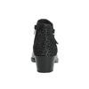 Kožená členková obuv na nízkom podpätku bata, čierna, 696-6613 - 17