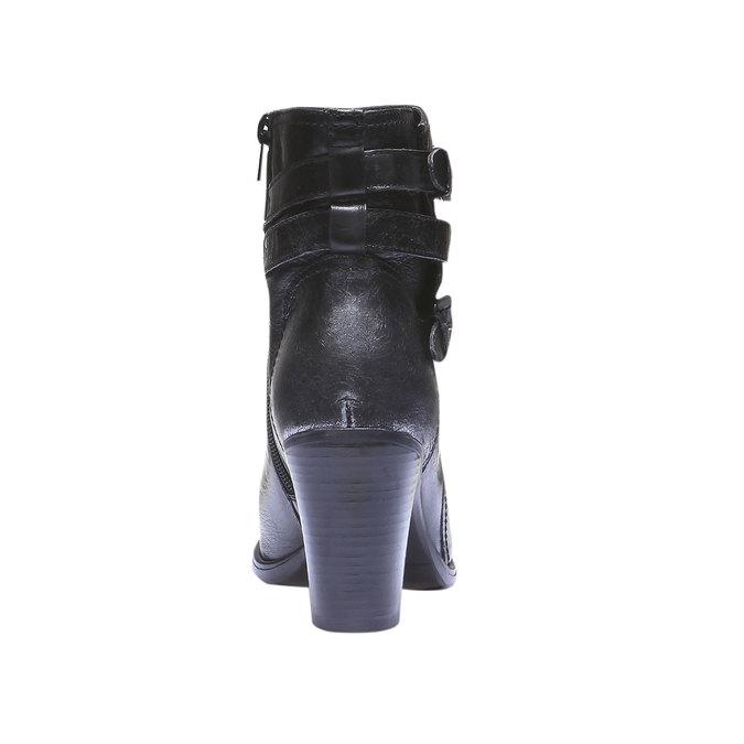 Kožené členkové čižmy bata, čierna, 794-6100 - 17
