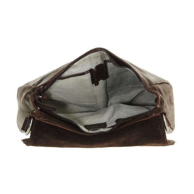 Kožená kabelka s klopou bata, hnedá, 964-4133 - 15