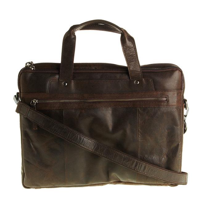 Kožená taška so zipsom bata, hnedá, 964-4101 - 26