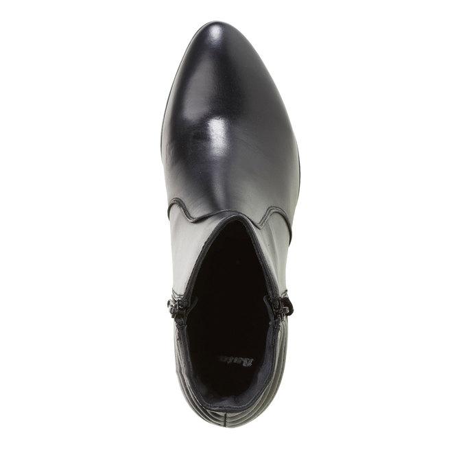 Kožené členkové čižmy so zipsami bata, čierna, 694-6105 - 19