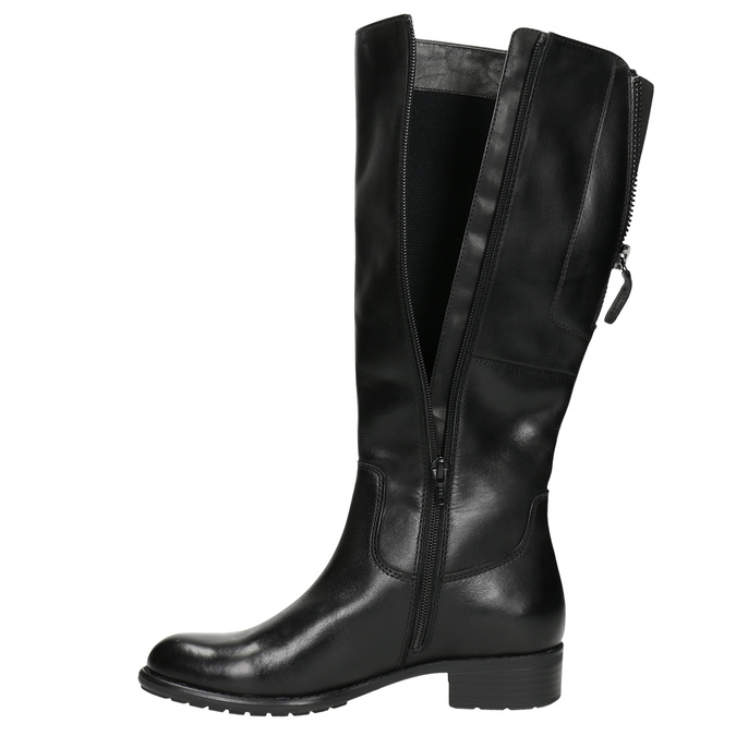 Dámske kožené čižmy čierne bata, čierna, 596-6604 - 26