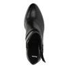 Kožená členková obuv na podpätku bata, čierna, 796-6609 - 19